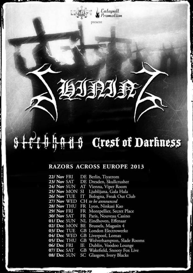 Razors Across Europe 2013 flyer